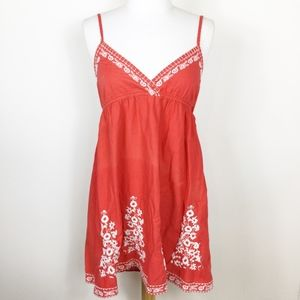 Forever 21 Orange Floral Sun Dress sz. Medium